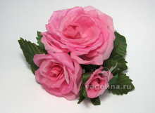 Заколка «Три розы»