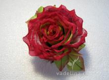 Роза раскрытая красная