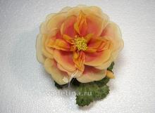 Роза желтая, винтаж